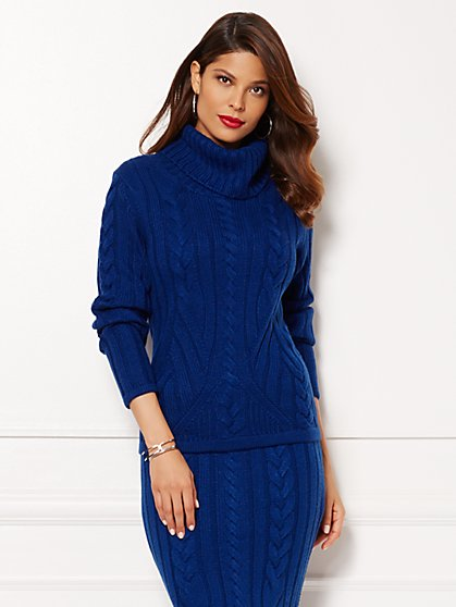 Eva Mendes Collection - Neve Cable Sweater - New York & Company