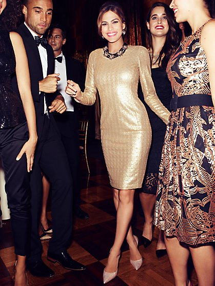 Eva Mendes Collection - Nicki Sequin Sheath Dress - New York & Company