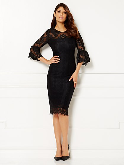 Eva Mendes Collection - Nicolette Bell-Sleeve Dress - New York & Company