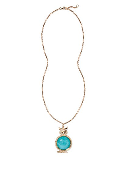 Eva Mendes Collection - Owl Pendant Necklace - New York & Company