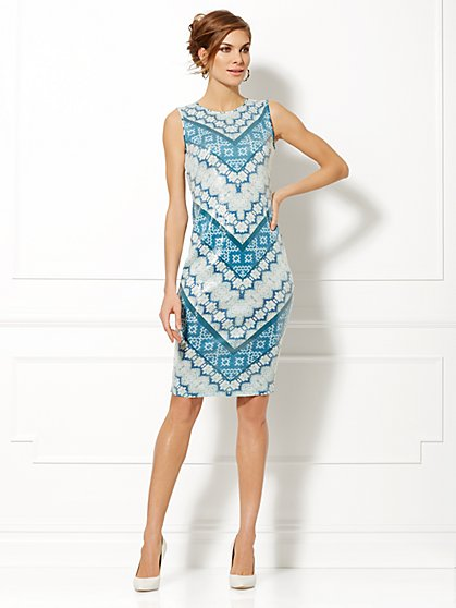 Eva Mendes Collection - Paige Sequin Print Dress   - New York & Company
