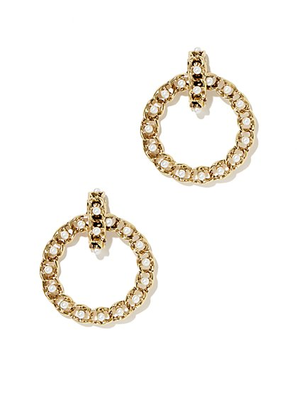 Eva Mendes Collection - Pearl Braided Hoop Earring  - New York & Company