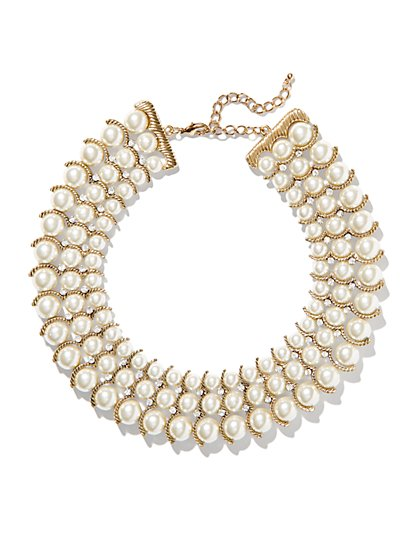 Eva Mendes Collection - Pearl Collar Necklace - New York & Company