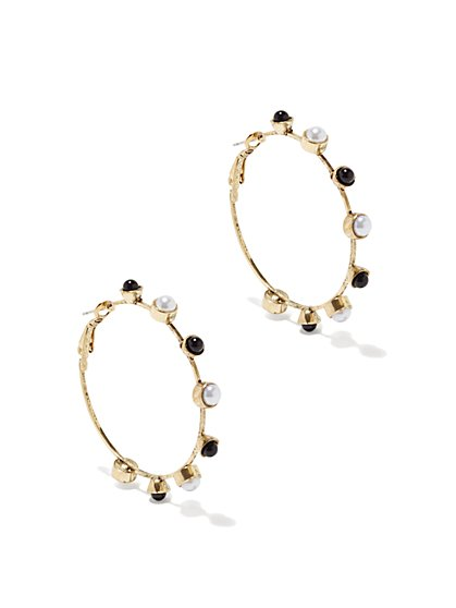 Eva Mendes Collection - Pearl Hoops - New York & Company