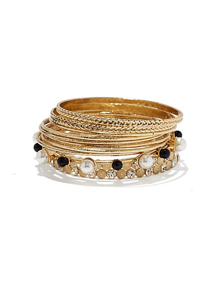 Eva Mendes Collection - Pearl-Mix Bangle Set - New York & Company
