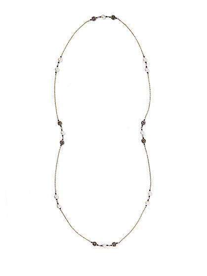 Eva Mendes Collection - Pearl Station Necklace  - New York & Company