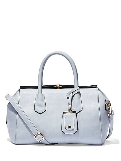 Eva Mendes Collection - Pebblegrain Satchel   - New York & Company