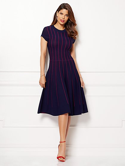 Eva Mendes Collection - Phoebe Sweater Dress - Stripe - New York & Company