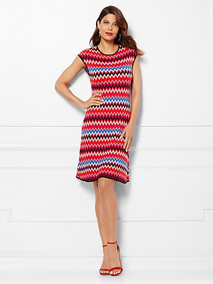 Eva Mendes Collection - Phoebe Sweater Dress - Zigzag - New York & Company