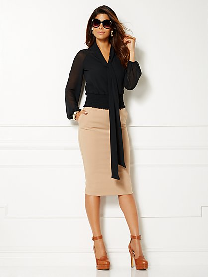 Eva Mendes Collection - Rachel Chiffon Blouse  - New York & Company
