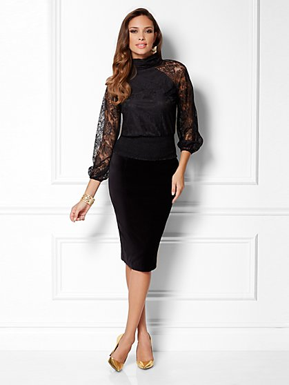 Eva Mendes Collection - Rachel Floral-Lace Blouse - New York & Company
