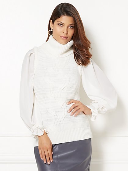 Eva Mendes Collection - Raina Sleeveless Cowl-Neck Sweater  - New York & Company