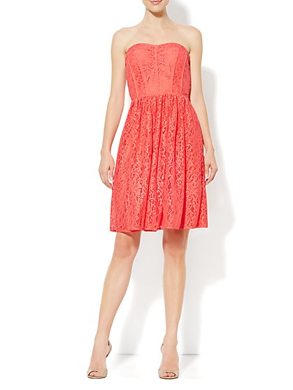 Eva Mendes Collection - Rebecca Dress - Floral Lace - New York & Company