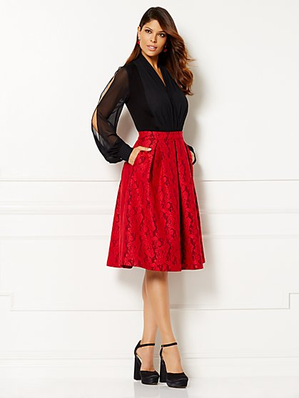 Eva Mendes Collection - Red Lace Skirt  - New York & Company