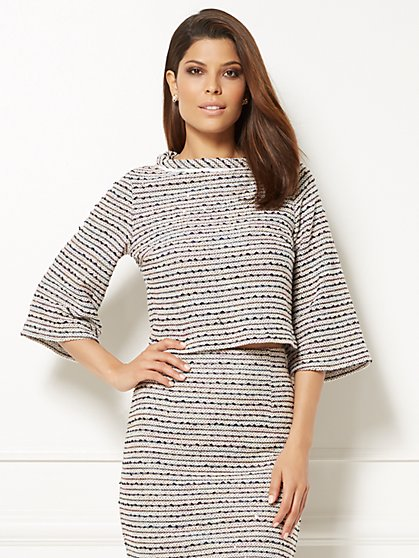 Eva Mendes Collection - Reese Bell-Sleeve Top - New York & Company