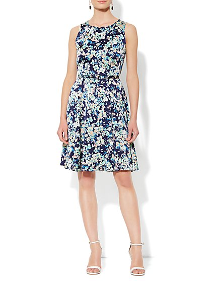 Eva Mendes Collection - Riviera Dress - Midnight Garden Print