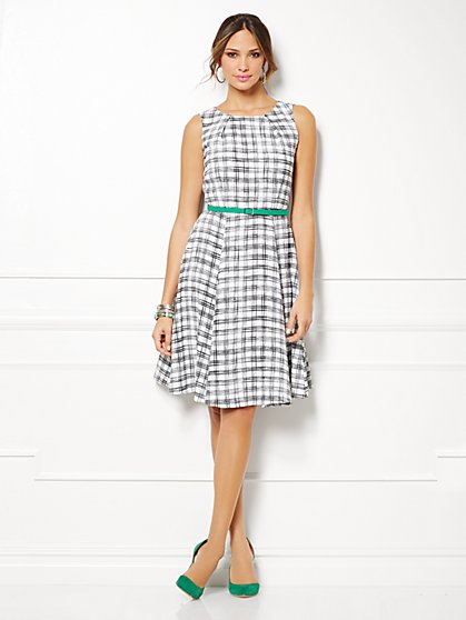 Eva Mendes Collection - Riviera Dress - Plaid - New York & Company