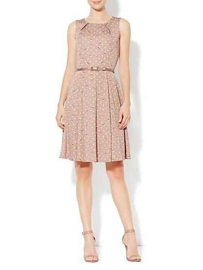 Eva Mendes Collection - Riviera Dress - Polka-Dot Rose Print