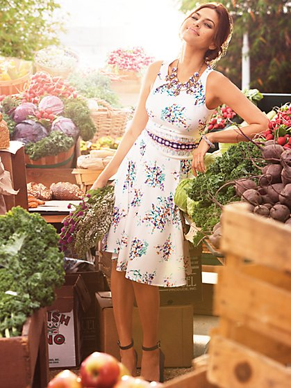 Eva Mendes Collection - Riviera Dress - White Floral  - New York & Company