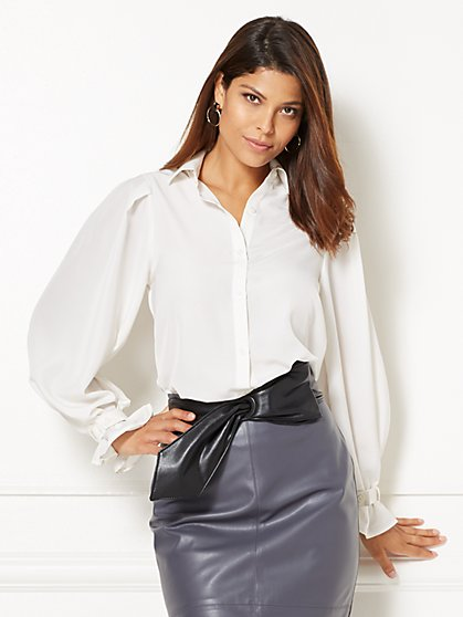 Eva Mendes Collection - Romy Puff-Sleeve Blouse  - New York & Company