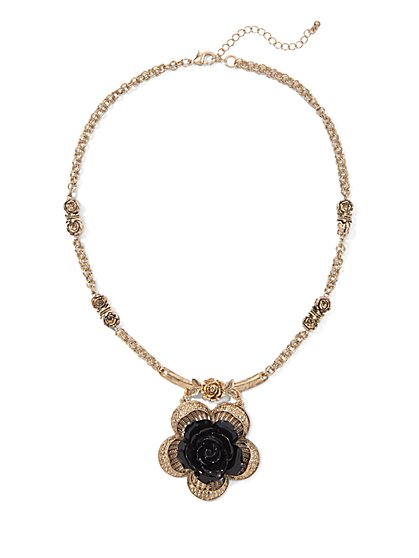Eva Mendes Collection - Rose Pendant Necklace  - New York & Company