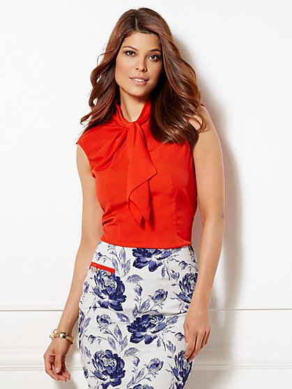 Eva Mendes Collection - Rosemary Draped Blouse  - New York & Company