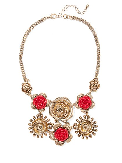 Eva Mendes Collection - Rosette Bib Necklace  - New York & Company