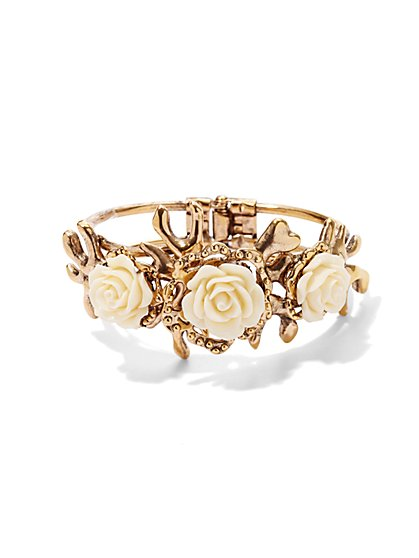 Eva Mendes Collection - Rosette Cuff Bracelet  - New York & Company