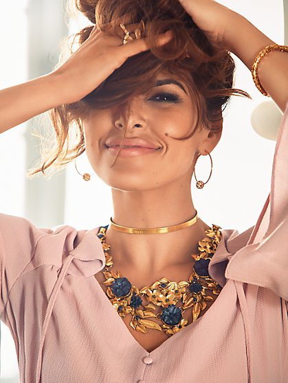 Eva Mendes Collection - Rosette Necklace  - New York & Company