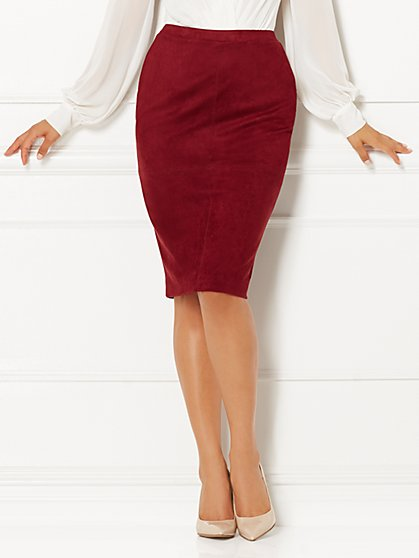 Eva Mendes Collection - Rylie Faux-Suede Skirt  - New York & Company
