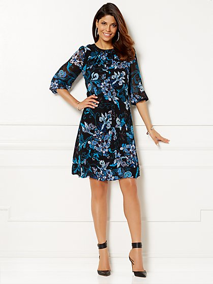 Eva Mendes Collection - Sabrina Dress - Black  - New York & Company