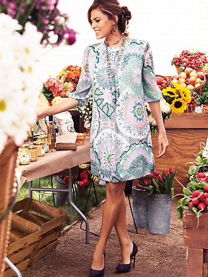 Eva Mendes Collection - Sabrina Dress - Kaleidoscope Print  - New York & Company