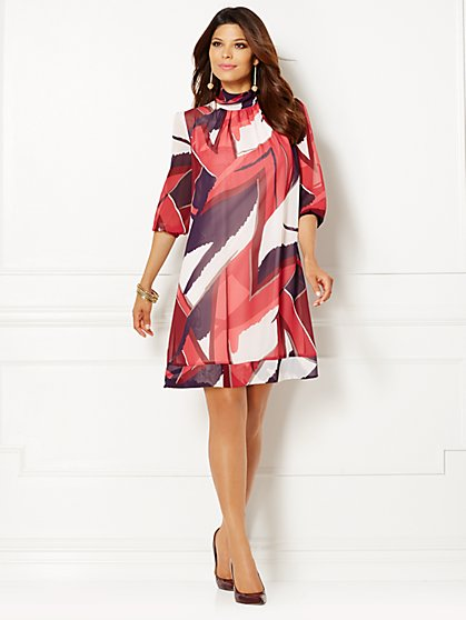 Eva Mendes Collection - Sabrina Dress - Print - Petite  - New York & Company