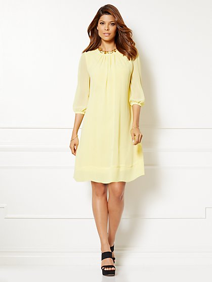 Eva Mendes Collection - Sabrina Dress - Solid - Petite  - New York & Company