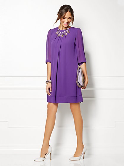Eva Mendes Collection - Sabrina Dress - Solid - New York & Company