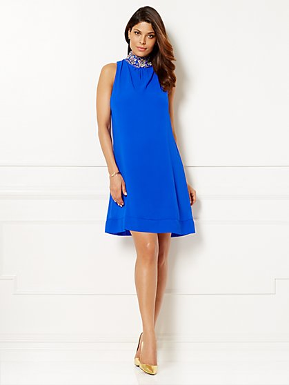 Eva Mendes Collection - Sabrina Dress - Sullivan Blue  - New York & Company