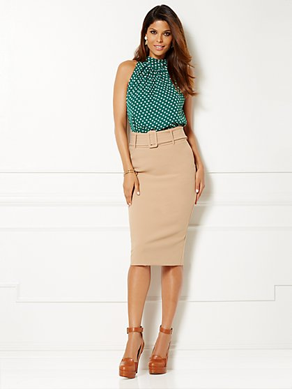 Eva Mendes Collection - Sabrina Tie-Neck Blouse - Polka Dot  - New York & Company