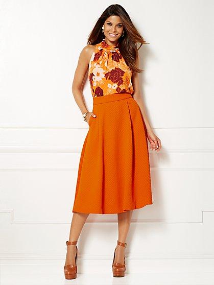 Eva Mendes Collection - Sabrina Tie-Neck Blouse - New York & Company