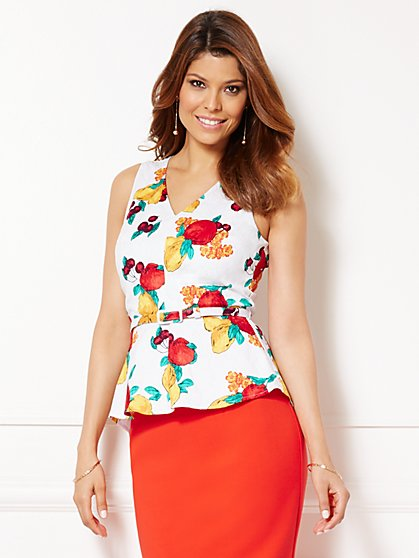 Eva Mendes Collection - Sadie Peplum Top  - New York & Company