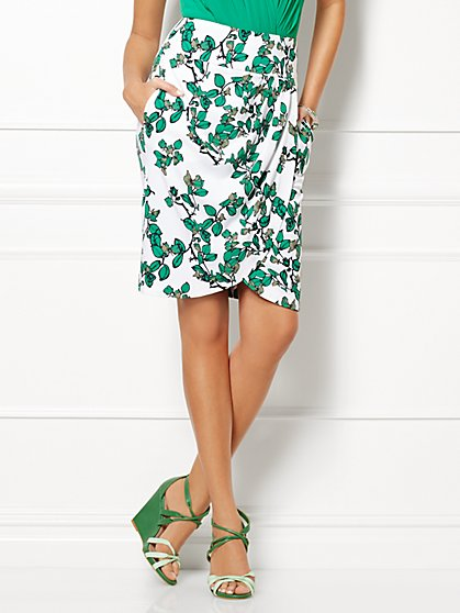 Eva Mendes Collection - Scarlet Tulip Skirt - Ivy Print   - New York & Company