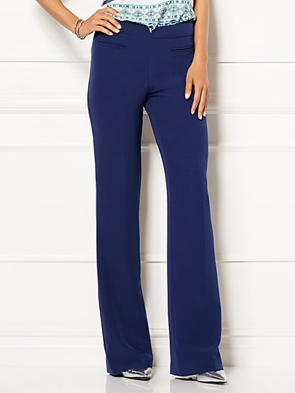 Eva Mendes Collection - Schuyler High-Waist Flare Pant  - New York & Company