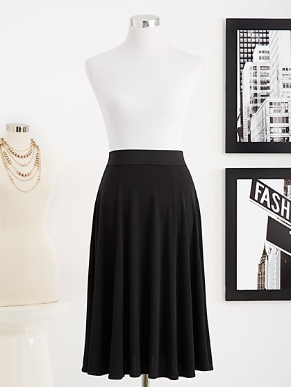 Eva Mendes Collection - Seamed Flare Skirt