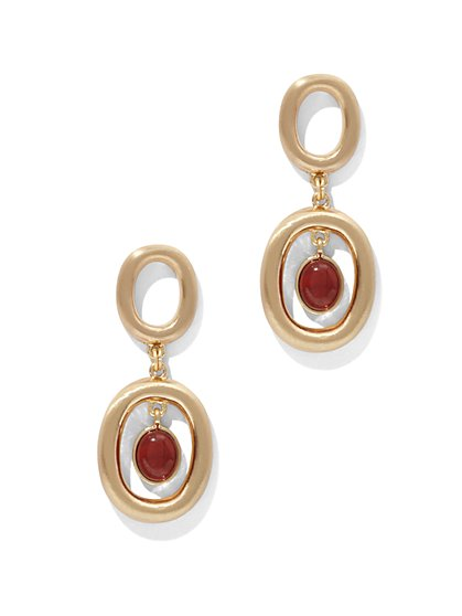 Eva Mendes Collection - Semiprecious Stone Drop Earring  - New York & Company