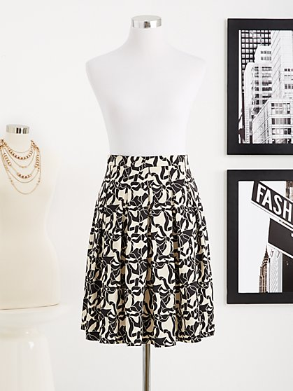 Eva Mendes Collection - Siena Full Skirt - Eva Bows Print
