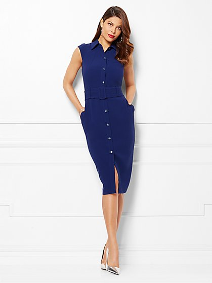Eva Mendes Collection - Simone Shirtdress - Petite  - New York & Company