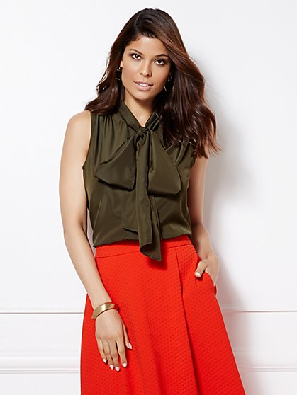 Eva Mendes Collection - Sleeveless Isabella Bow Blouse  - New York & Company