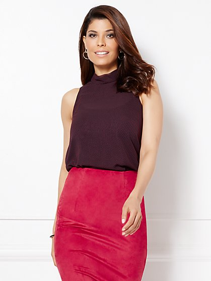 Eva Mendes Collection - Sleeveless Noa Mock-Neck Blouse  - New York & Company