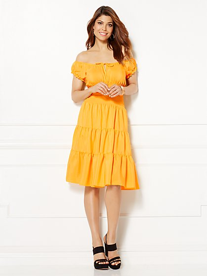 Eva Mendes Collection - Smocked Paulina Dress  - New York & Company