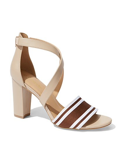 Eva Mendes Collection - Stacked-Heel Sandal  - New York & Company
