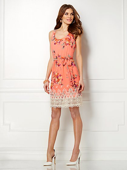 Eva Mendes Collection - Stella Lace-Trim Dress  - New York & Company